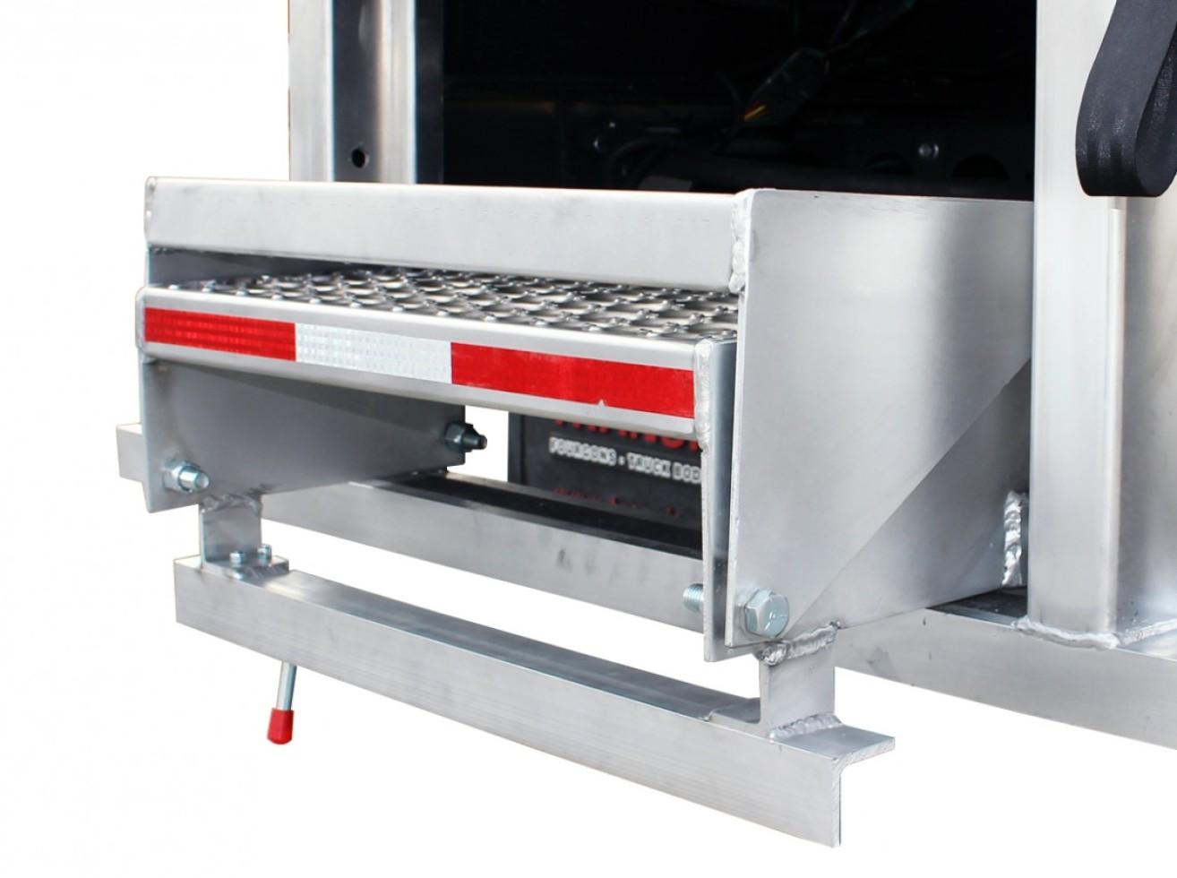 Aluminum Retractable Double Steps Transit